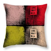 One Way Street Throw Pillow