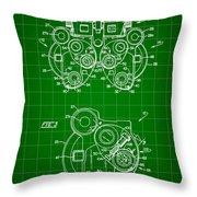Optical Refractor Patent 1985 - Green Throw Pillow