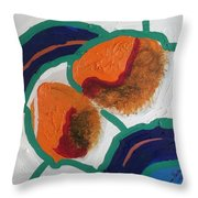 2 Orange Throw Pillow