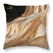 Orange Spring Mound At Mammoth Hot Springs Throw Pillow