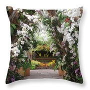 Orchid Display Throw Pillow