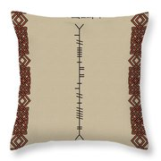 O'reilly Written In Ogham Throw Pillow