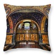 Orthodox Church Interior Throw Pillow