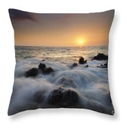 Over The Rocks Throw Pillow