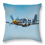 P-51 Mustang Throw Pillow