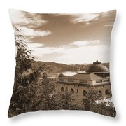 Pacific County Courthouse Timeless Series 8 Throw Pillow