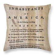 Paine: Common Sense, 1776 Throw Pillow by Granger