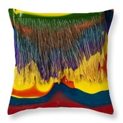 Paint Brushes Camouflaged Throw Pillow