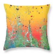 Paint Number Ninteen Diptych Throw Pillow