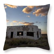 Painted Desert Trading Post At Sunset Throw Pillow