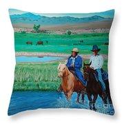 Paiute Cattlemen Throw Pillow