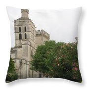 Palace Of The Pope - Avignon Throw Pillow
