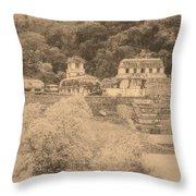 Palenque City Throw Pillow