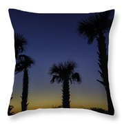 Palmetto Sunset Throw Pillow