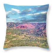 Palo Duro Canyon Throw Pillow