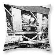 Panama Canal, 1910s Throw Pillow