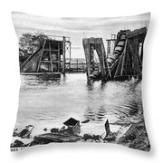 Panama Canal French Work Throw Pillow