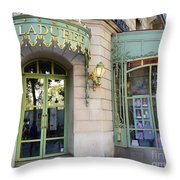 Paris Laduree Macaron French Bakery Patisserie Tea Shop - Champs Elysees - The Laduree Patisserie Throw Pillow