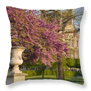 Paris Springtime Throw Pillow