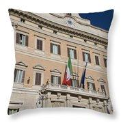 Parliament Building Rome Throw Pillow