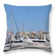 Pasalimani Port Throw Pillow