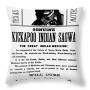 Patent Medicine, C1890 Throw Pillow