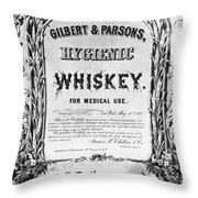 Patent Medicine Poster Throw Pillow