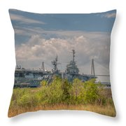 Patriots Point Maritime Throw Pillow