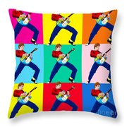 Paul Weller Wham Throw Pillow