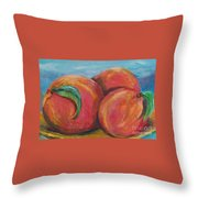 Peaches Throw Pillow