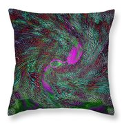 Peacock Dreams Throw Pillow