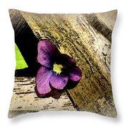 Peeking Violet Throw Pillow