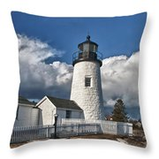Pemaquid Point Lighthouse 4897 Throw Pillow