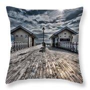 Penarth Pier 2 Throw Pillow