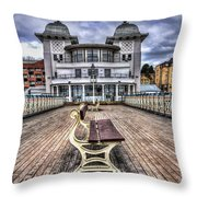 Penarth Pier Pavilion Throw Pillow