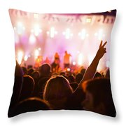 People On Music Concert Throw Pillow