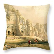 Petra Throw Pillow by David Roberts