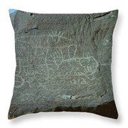 Petroglyph Rock Throw Pillow