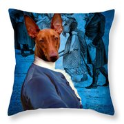 Pharaoh Hound Art Canvas Print Throw Pillow