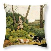 Pheasant Shooting Throw Pillow