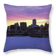 Philadelphia Skyline At Dusk Throw Pillow