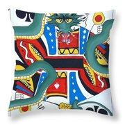 Pick A Card Any Card Throw Pillow