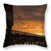Pier Myrtle Beach Sc Throw Pillow