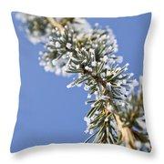 Pine Tree Branch Throw Pillow