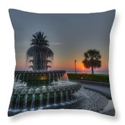 Pineapple Sunrise Throw Pillow