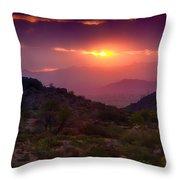 Pink Desert Skies  Throw Pillow