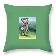 Pioneergreen Throw Pillow