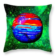 Planet Disector Red 1 Throw Pillow