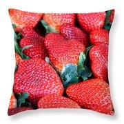 Plant City Strawberries Throw Pillow