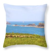 Pointe Du Grouin - Brittany Throw Pillow